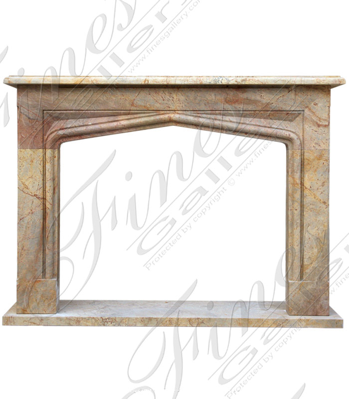 Marble Tudor Style Fireplace