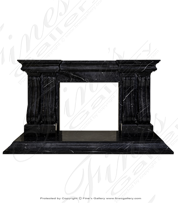 Marquina Marble Fireplace Mantel