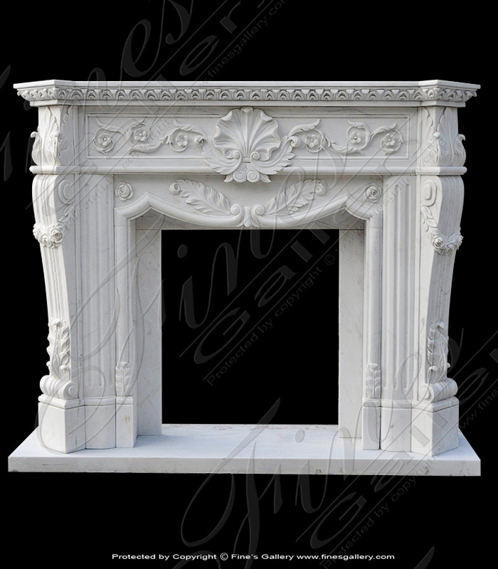 Ornate Luxury Marble Fireplace