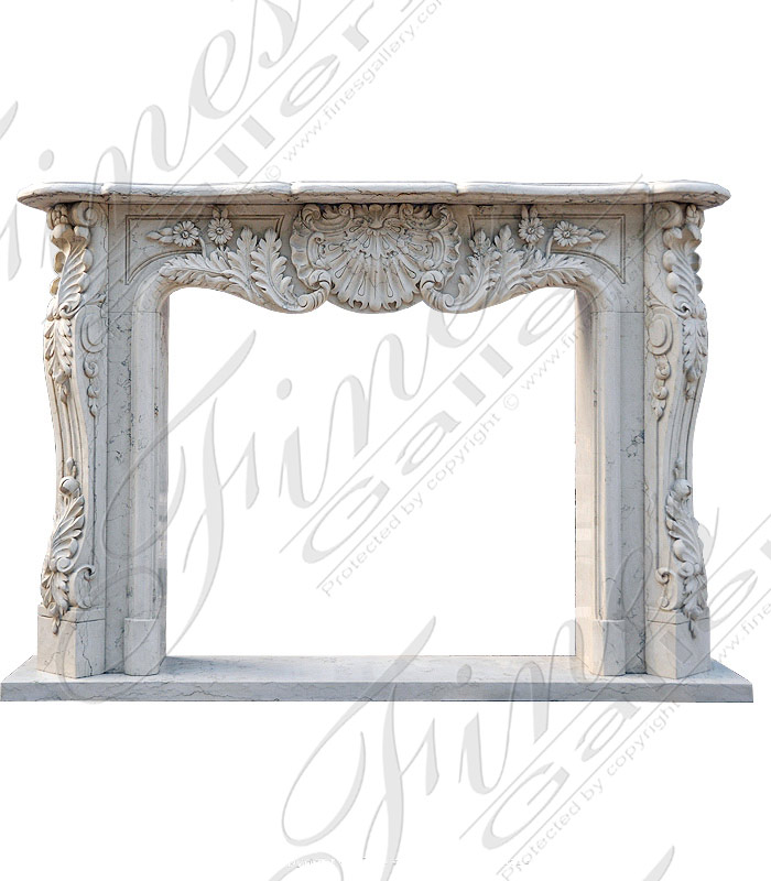 Bianco Perlino French Versailles Fireplace