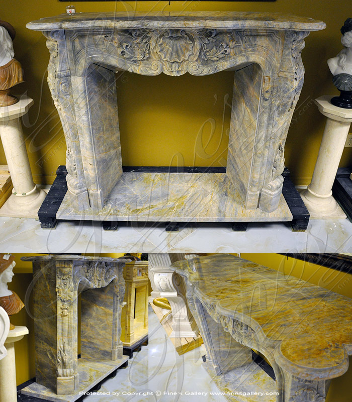 French Luxury Marble Fireplace