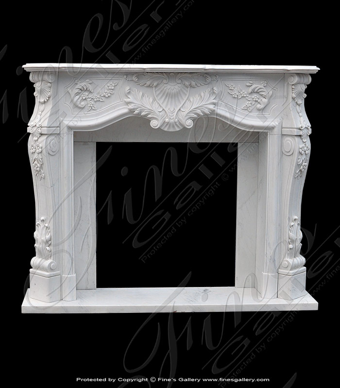 French Style Marble Fireplace