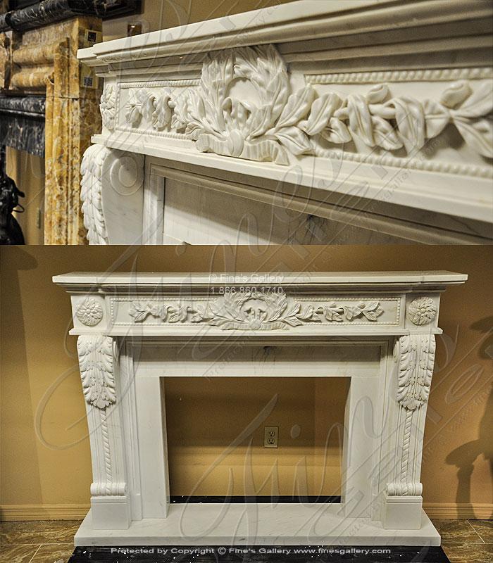 White Regency Fireplace Mantel
