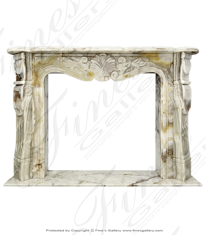 French Style Onyx Fireplace Surround