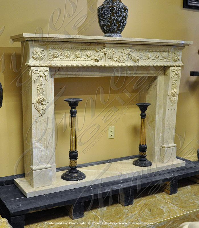 Crema Marble Fireplace