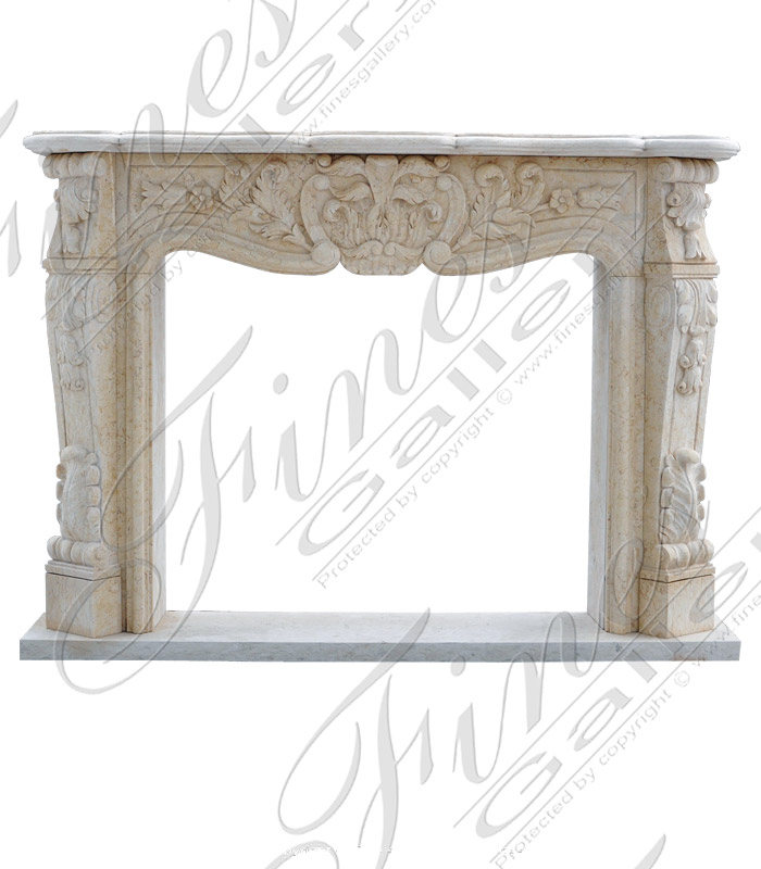 Desert Gold Marble Fireplace