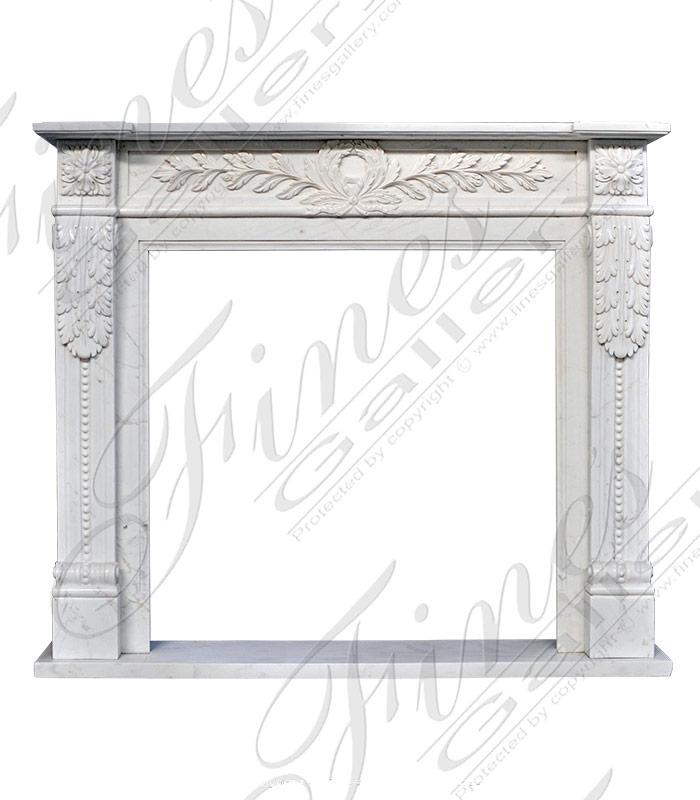 White Marble Regency Mantel