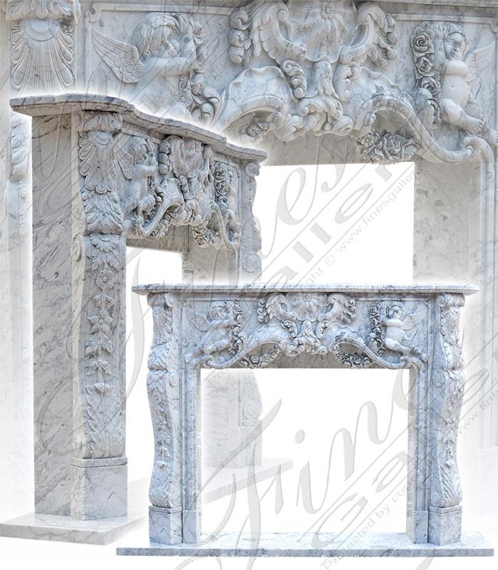 Italian Marble Fireplace