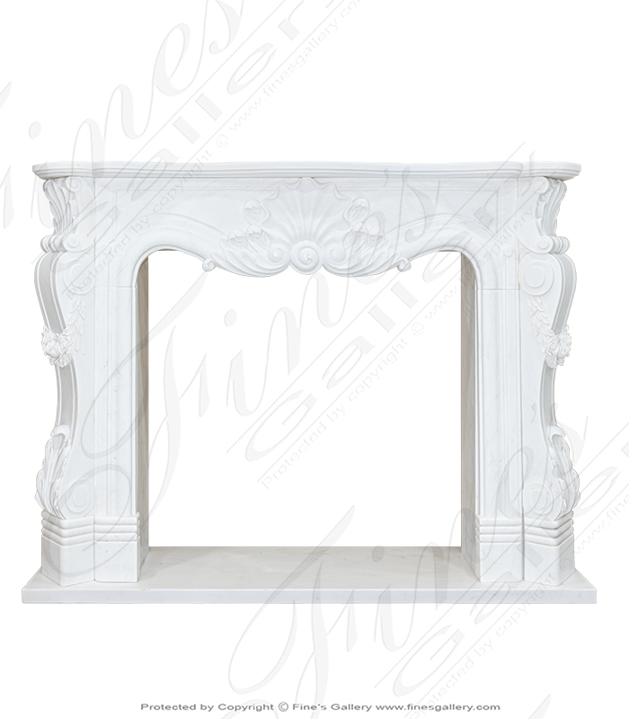 Pristine French Marble Fireplace