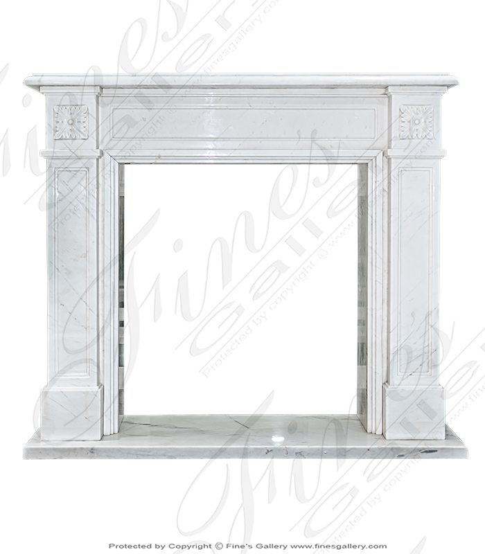 Classic Statuary White Marble Fireplace