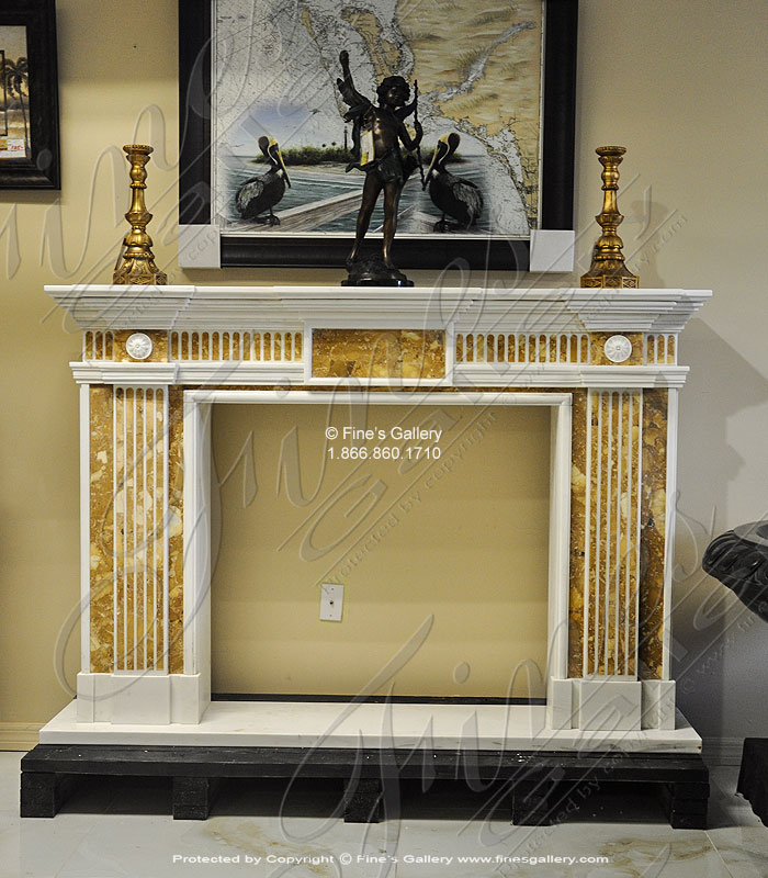 Neoclassical Marble Fireplace