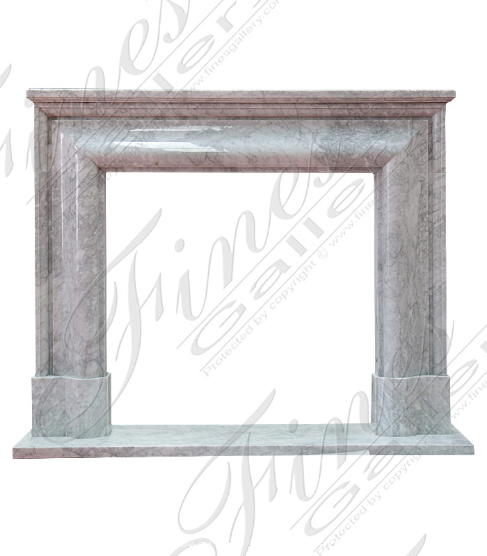 Italian Carrara Bolection Mantel