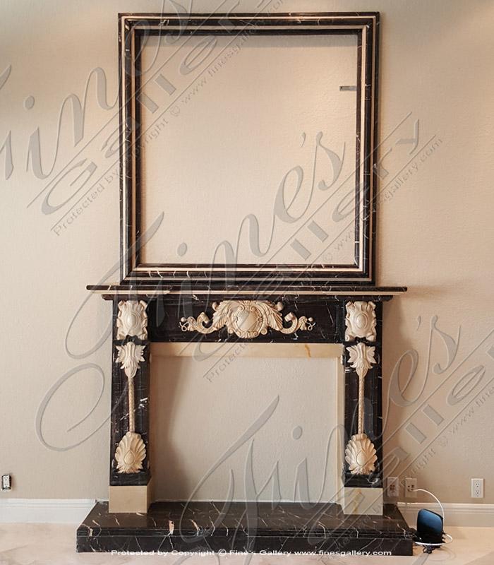 Italian Style Marble Fireplace