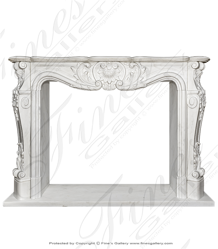 Louise XVI Mantel Extra White Superior Surround