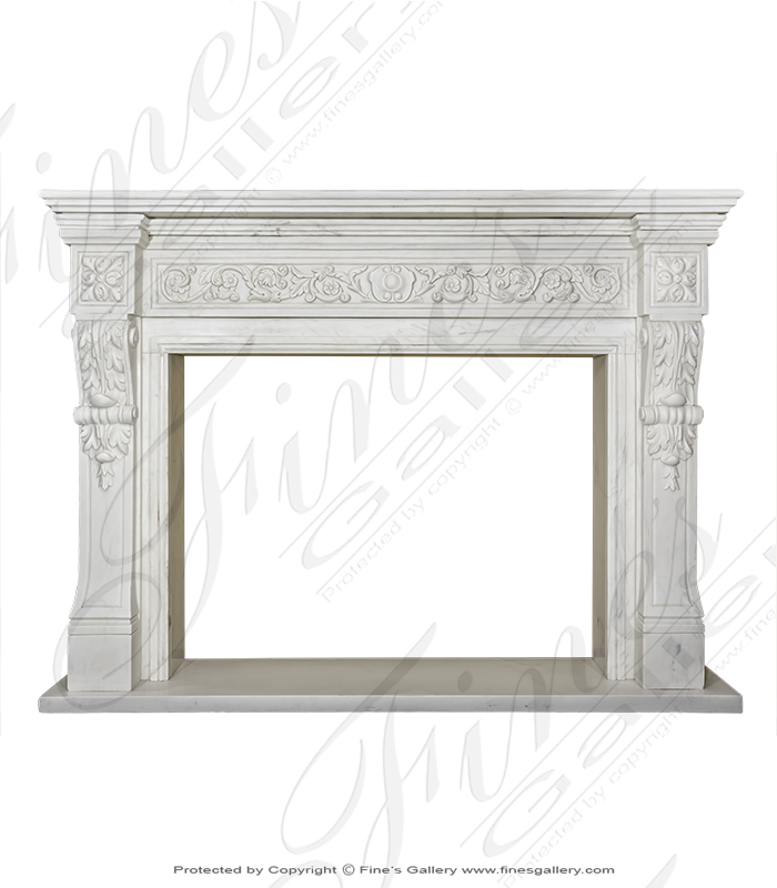 Luxurious Regency Marble Firep
