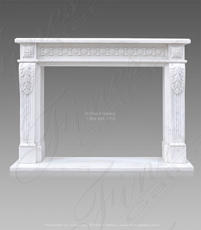 French Louis XVI Fireplace in Marble