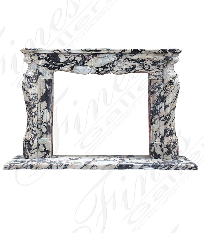 Luxurious Italian Breche Violette Louise XIV Surround