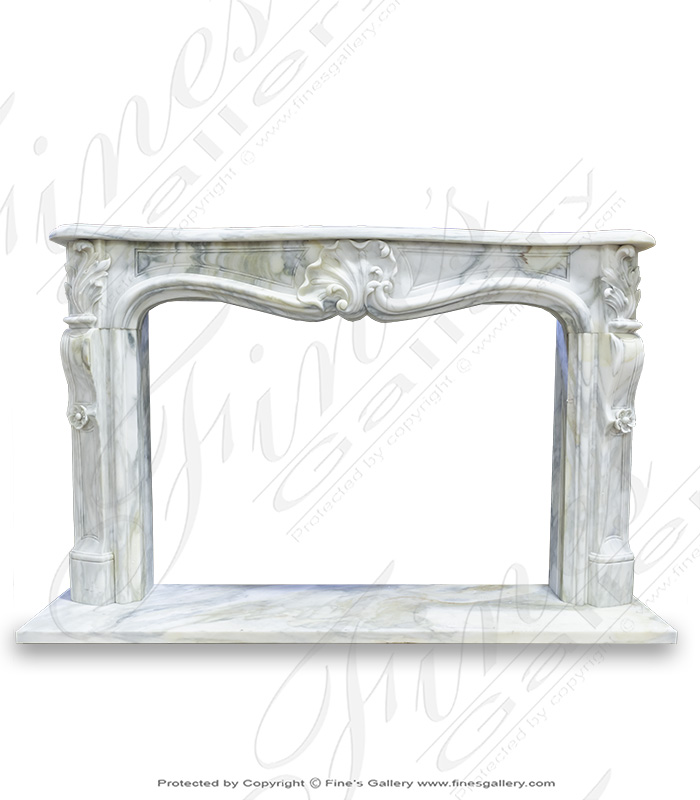 Antique Style French Marble Fireplace