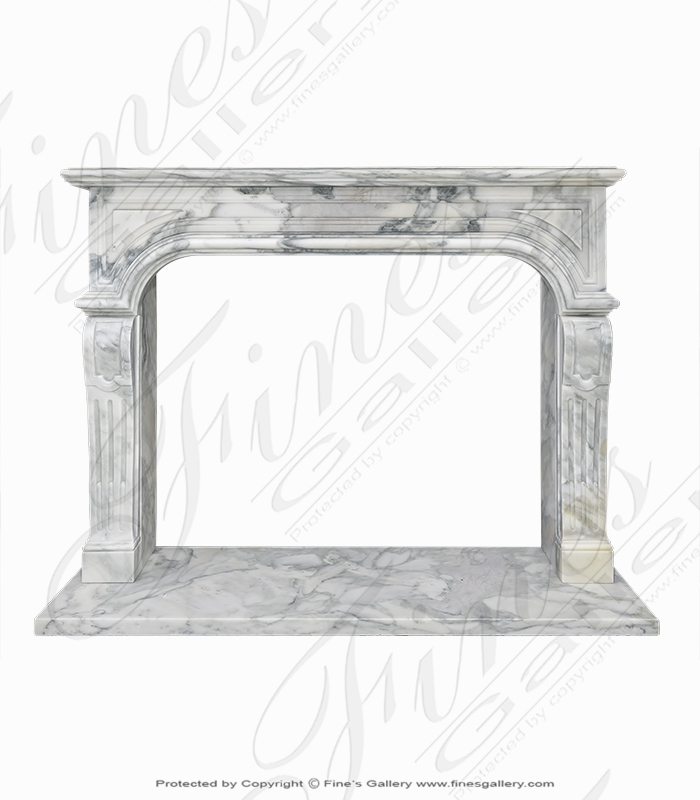 Arabascato Marble Fireplace