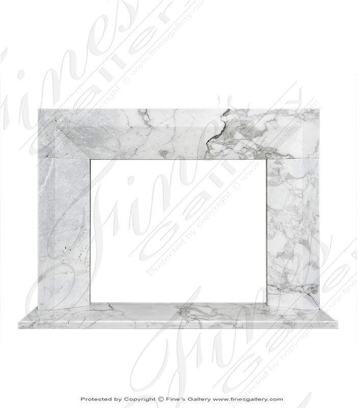 Contemporary Calacatta Marble Surround XVI