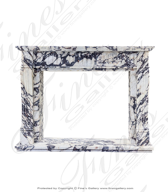 Breche Violette Marble Fireplace