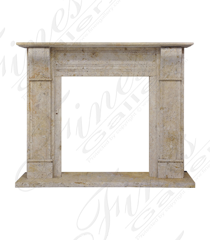 Contemporary Corbel Style Travertine Mantel
