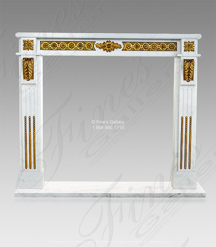 Custom Marble and Bronze Regency Style Mantel