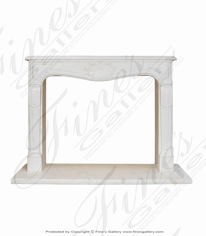 Elegant French Statuary Marble Mantel