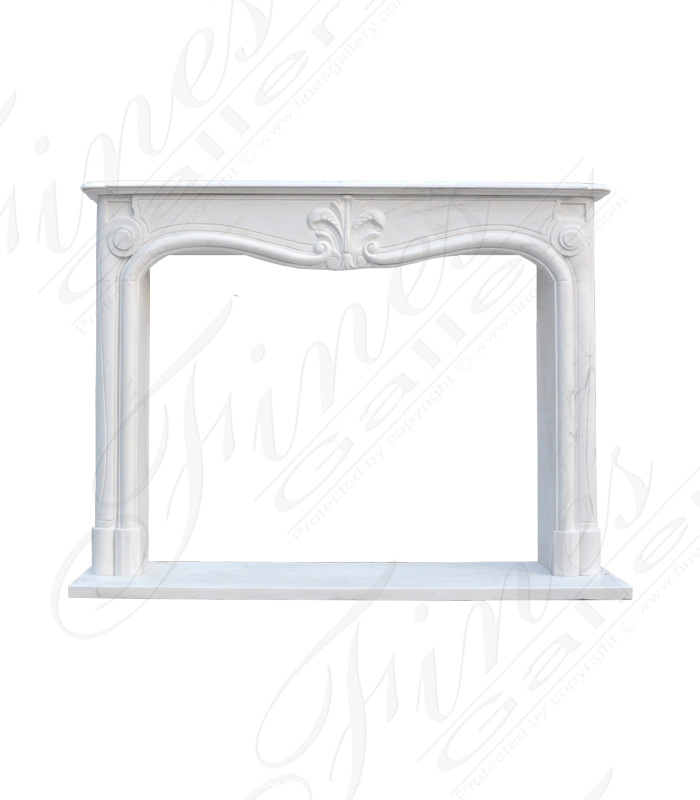Elegant Statuary White Marble Fireplace