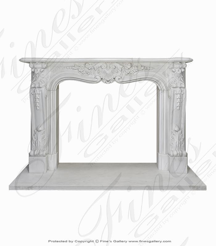 Statuary White Louise XVI Marble Mantel