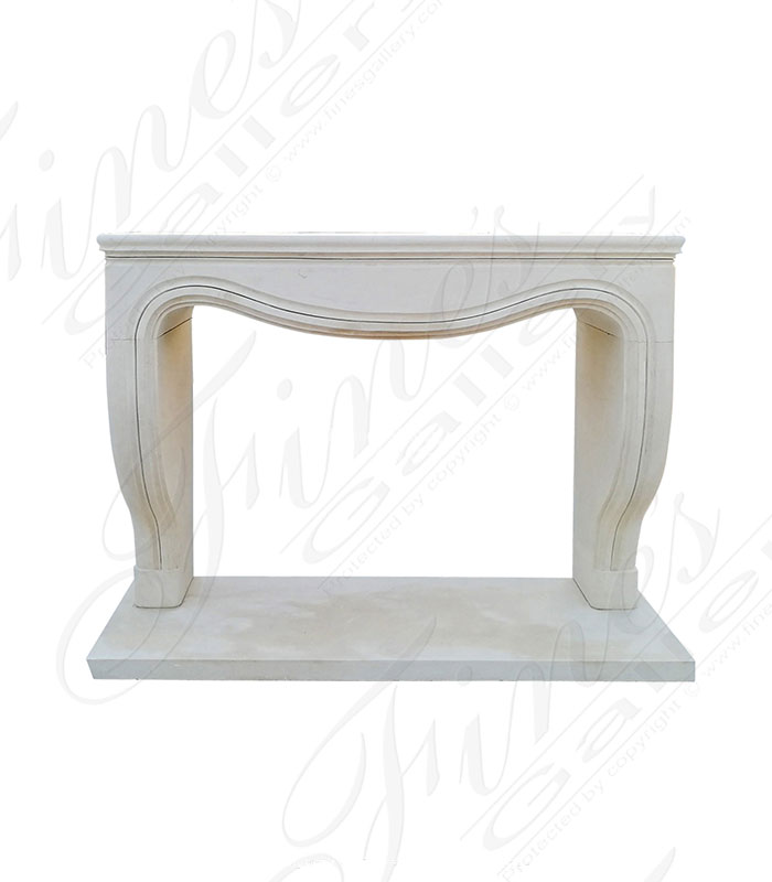 French Style Mantel in Italian Limestone