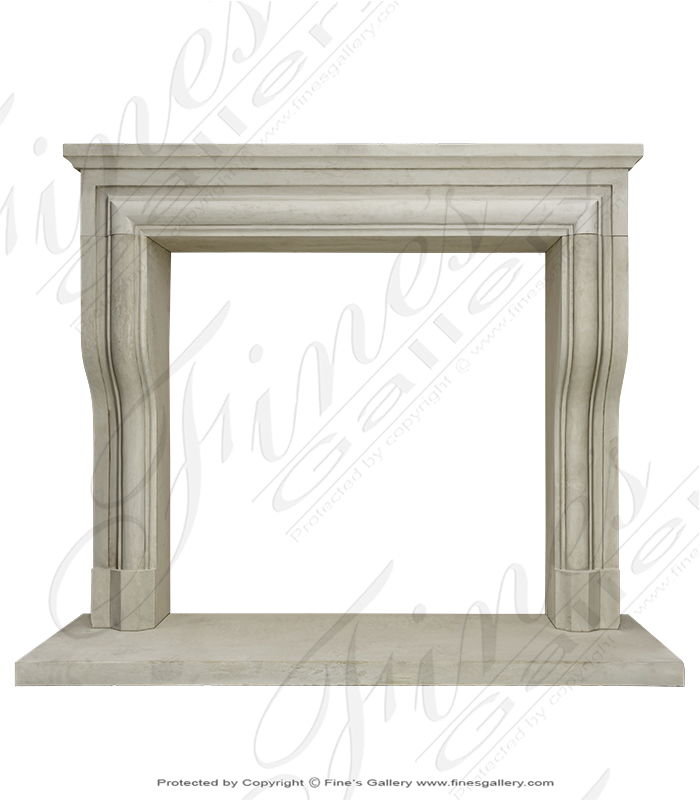 Limestone Mantel From South Italy