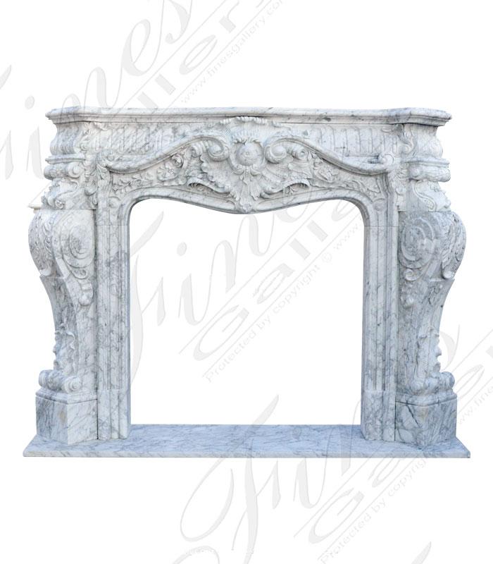 Luxurious Rococo Arabascato Marble Fireplace