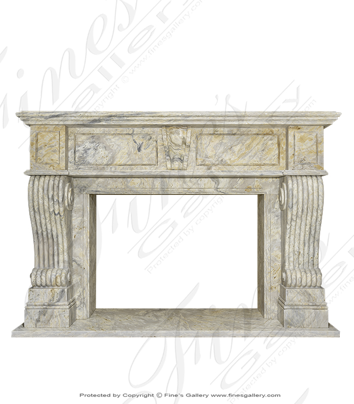Orobico Light Marble Fireplace