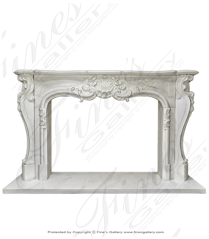 French Louis X Statuary Marble Mantel