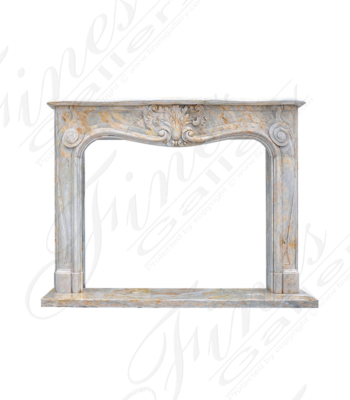 Louis XV Mantel in Orobico Light Marble