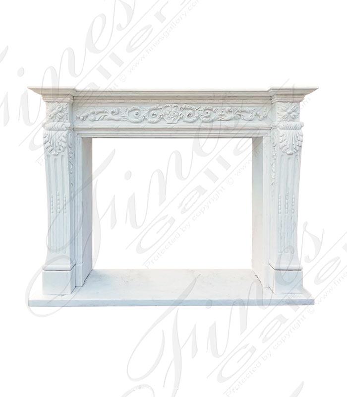 Louis XVI Statuary Marble Mantel