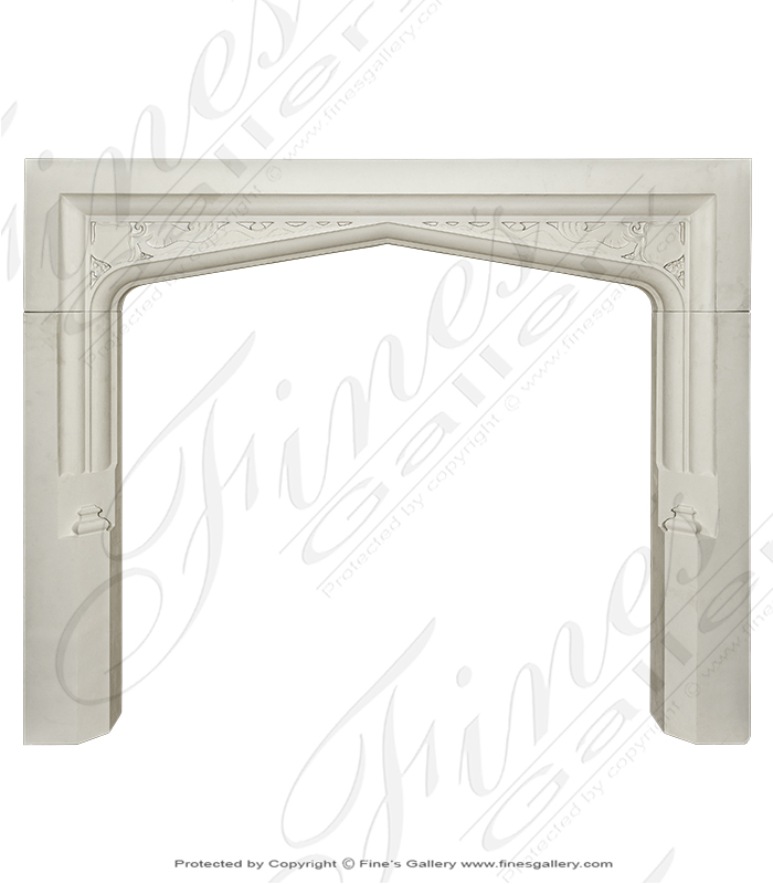 Tudor Style Mantle in French Limestone