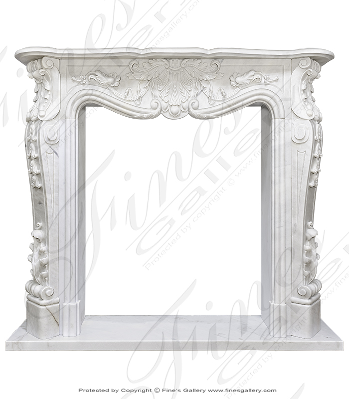 Stunning Statuary French Style Marble Surround