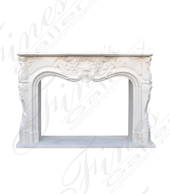 Unusual and Stunning French Style Marble Fireplace