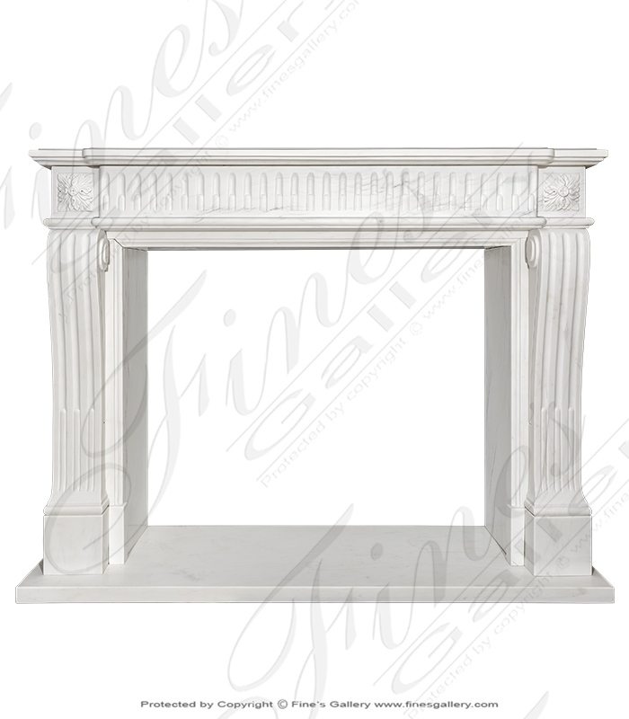 Fluted Regency Louis XVII Mantel in Statuary White