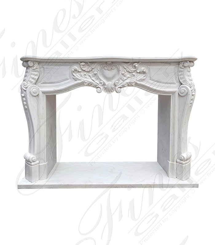 Rare French Style Mantel with Uniquely Shaped Opening