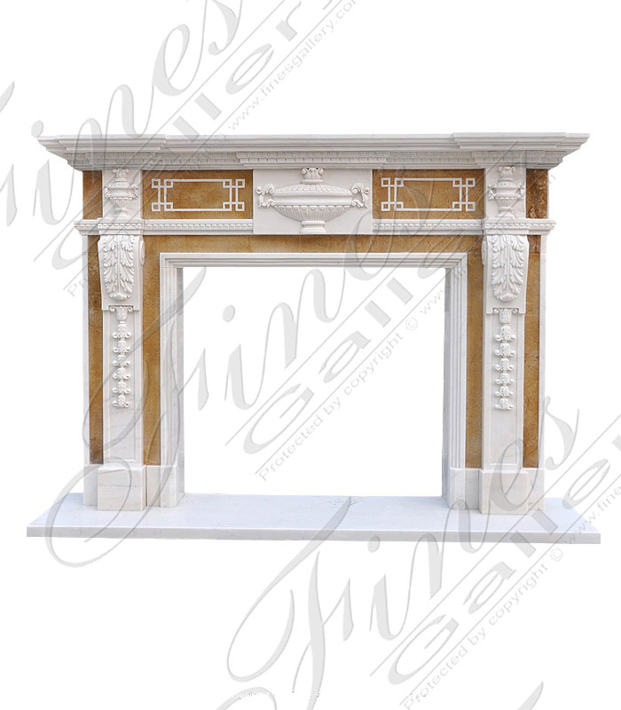 Grecian Urn Marble Fireplace