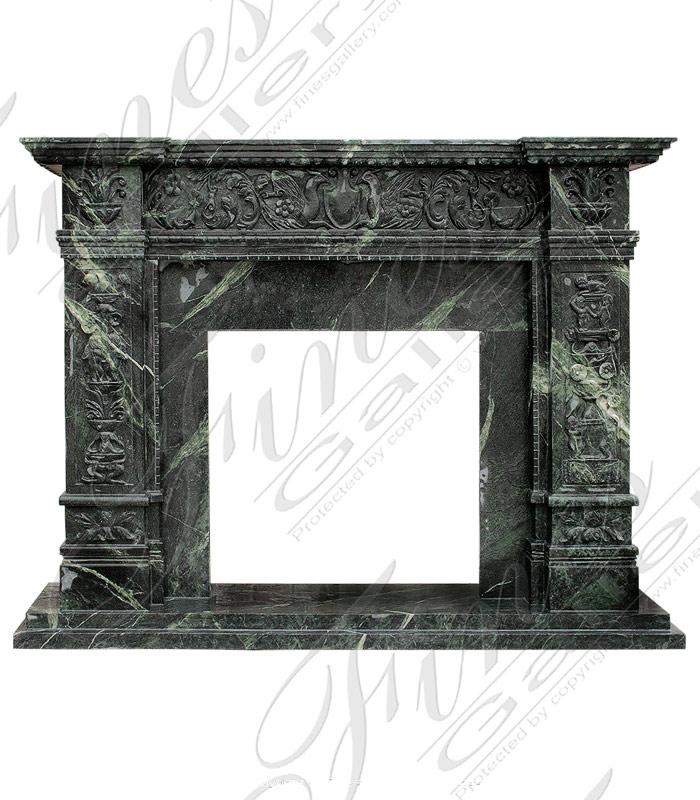 Verde Marble Italian Renaissance Fireplace
