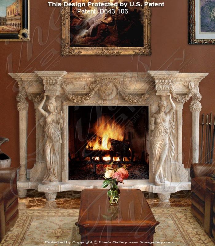 Greek Majesty Marble Fireplace