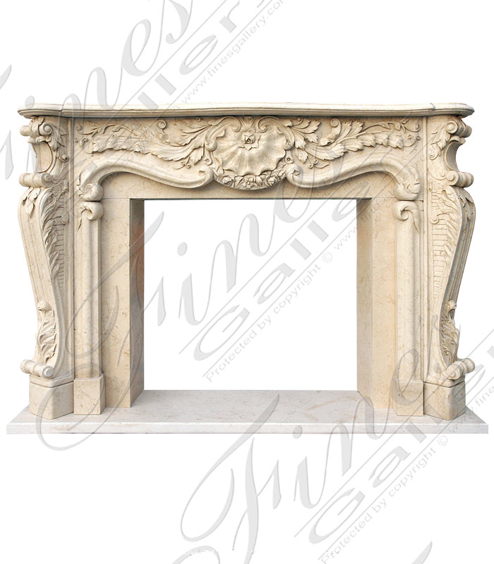 Leaf & Scroll Marble Fireplace