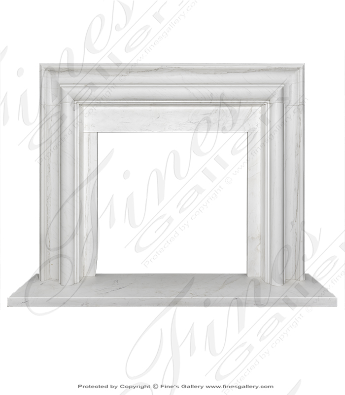 Pure white Bolection Style Fireplace Mantel