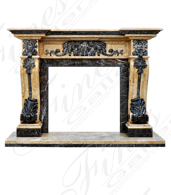Black and Gold Marble Fireplace