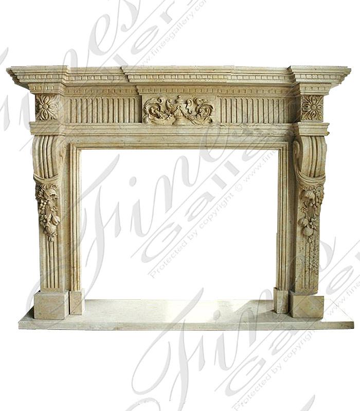Greek Antiquity Marble Fireplace