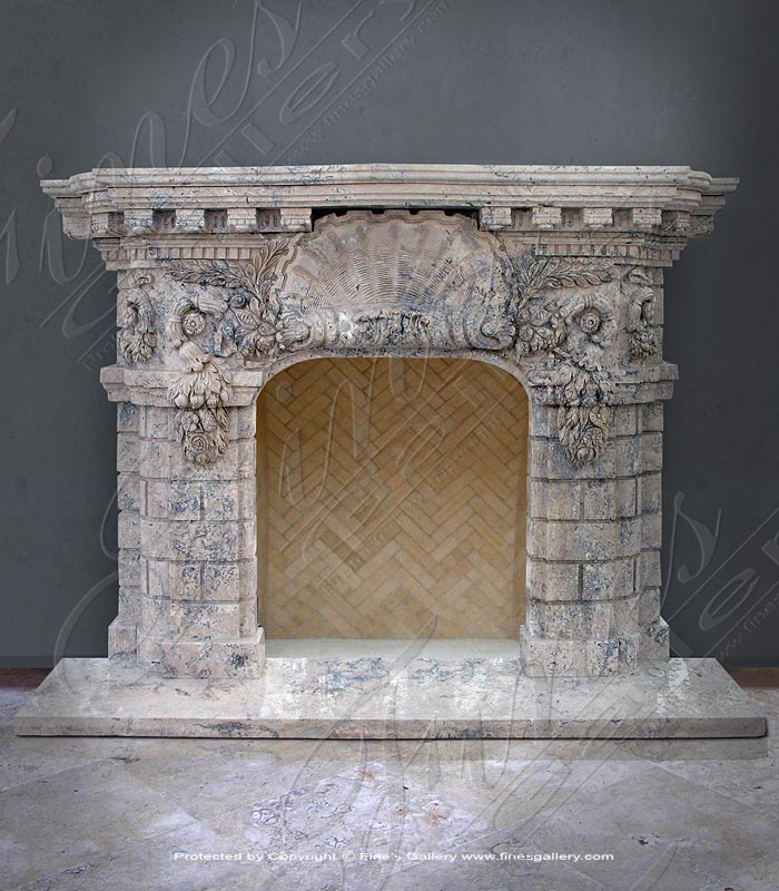 Antique Style Marble Fireplace